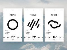 Weather App UI by Tatsuya SAWANOBORI