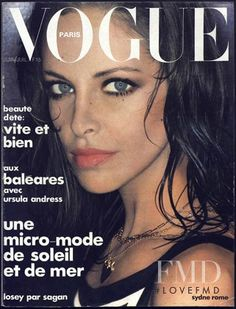 Cover of Vogue Paris with Sydne Rome, June 1975 (ID:403)| Magazines | The FMD…