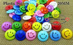Plastic buttons (smile faces), 20 mm, 40 pcs Пластиковые пуговицы (смайлики), 20 мм, 40 шт