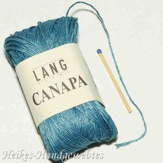 Canapa Petrol von Lang Yarns Lang Yarns, Shops, Throw Pillows, Hemp, Weaving, Breien, Tents, Toss Pillows, Cushions