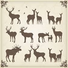 Image result for female deer silhouette