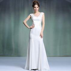 897d3031151 New Arrival Hot Sale Classy Cheap Floor Length Scoop Wedding Party Dress