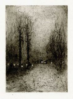 Bohuslav Reynek Koza u silnice / Goat at the Road suchá jehla / dry point 19,1 x…