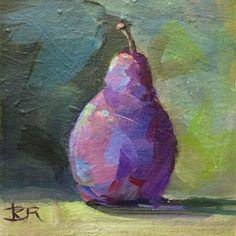 "Daily Paintworks - ""Hipster Pear"" - Original Fine Art for Sale - © Kimberly Dana Ryan Artist Gallery, Fine Art Gallery, Water Soluble Oil Paint, Fruit Painting, Still Life Art, Fruit Art, Simple Art, Lovers Art, Art For Sale"