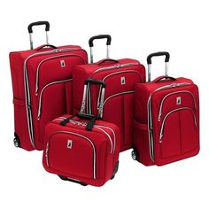 I pinned this 4 Piece Coventry Suitcase Set in Red from the London Fog event at Joss and Main!