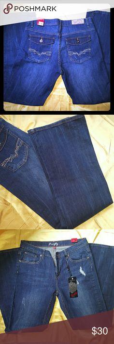 Boot Cut Trending Distressed denim never worn. Firefly Denim Jeans