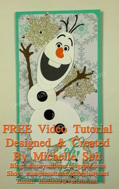 """Olaf"" Punch Art Video Tutorial"