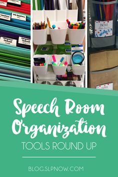 When it comes to speech room organization, you probably have a need for lots of tools to help you organize your materials. This post is a tools roundup, and it includes my recommendations for all of my favorite tools that will be great additions to your s