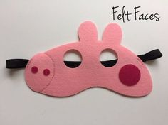 Peppa Pig Party Mask, Peppa Pig Party Ideas, Peppa Pig Party Decorations