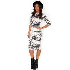 Meliora Tie Dye Bodycon Midi Dress