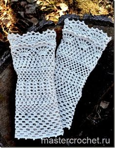 Crochet Gloves + Pattern Step By Step + Diagram