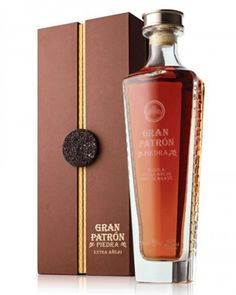Detailed description and specifications of Gran Patron Piedra Tequila Extra Anejo (including images) as well as data on NOM number, distillery name, distillation steps, ageing and awards Vodka Tequila, Patron Tequila, Tequila Drinks, Tequila Shots, Alcoholic Drinks, Alcohol Bottles, Liquor Bottles, Perfume Bottles, Caviar Russe