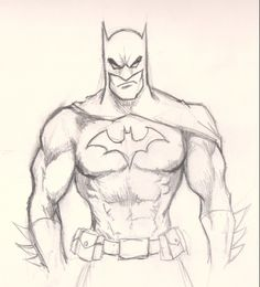 Drawing ideas- Batman. This will help me learn to draw muscles.