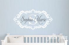 Name Vinyl Wall Decal Shabby Chic Damask by JustTheFrosting, $30.00