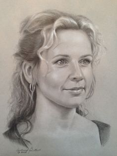 Graphite, white and black charcoal on gray paper. By Audrey Bottrell Realistic Pencil Drawings, Art Drawings, Black And White Portraits, Pencil Art, Love Art, Graphic Art, Art Gallery, Artistic Portrait, Face