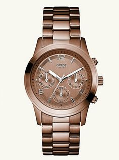 daddy get me new year gift a.k.a. a Guess Bronze watch ;)