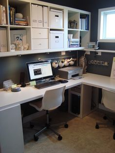 storage ideas for a small office. #studyhard #office