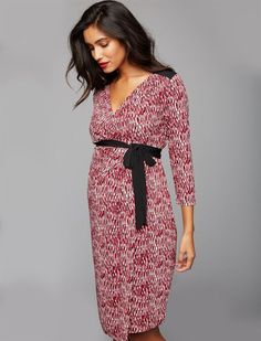 ed4377e5b2 A Pea in the Pod Wrap Maternity Dress