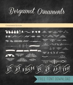 free chalkboard font alphabet | Free Font Friday - Bergamot Ornaments | Blog: OhEverythingHandmade ...