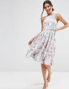 ASOS+Crop+Top+Floral+Midi+Dress