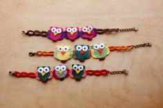 Owl Bracelets (Available in different colors and sizes)