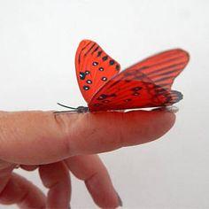 59e0d87a6 Red natural butterflies,butterfly 3d wall stickers Flower Pot Home  Accessories bedroom,garden, bedroom,living room,kitchen,wall art, vase