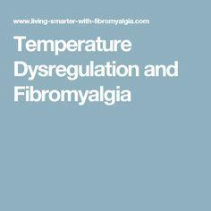 Temperature Dysregulation and Fibromyalgia