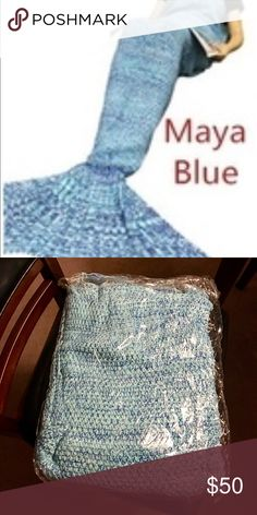 NWT. Adult Women Soft Handmade Mermaid blanket. Firm price due to extra shipping charges. Very competitive with others on Posh. Can also be used as a sleeping bag. Color: Maya Blue. Rated 5⭐️s buy others purchased from manufacturer. Other