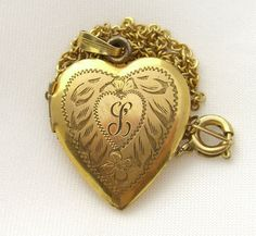 Victorian Heart Locket. Antique Jewelry 12K by BuyVintageJewelry, $40.00