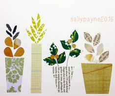 New month - lots to do - here are some more paper based pieces and a pattern thrown in too x