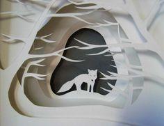 6 layer paper art