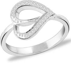 Peora My Heart is Yours Sterling Silver Rhodium Ring
