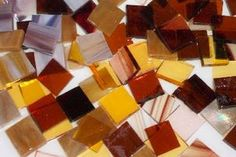 Autumn Mix stained glass mosaic tiles