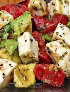 """Mozzarella Avocado Tomato Salad"" -- Yummy, delish greek salads & other healthy salads .."