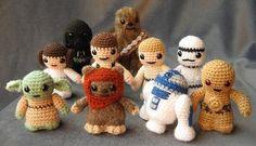Des personnages Star Wars tricotés (Amigurumi)