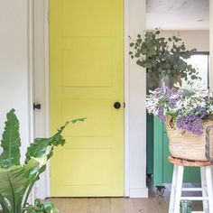 Transform an old hollow core door into boho and farmhouse style DIY painted panel door for under $20! Easy makeover with simple tools and materials. Great home improvement idea on a budget! - A Piece Of Rainbow boho living, bohemian, kitchen ideas, colorful farmhouse, modern kitchen, closet, interior design, #kitchen #kitchenideas #beforeandafter #remodel #remodelingideas #painting #DIY #boho #bohemian #diy #farmhouse #farmhousedecor #diyhomedecor Design Kitchen, Kitchen Ideas, Distressed Wood Furniture, Winter Planter, Hollow Core Doors, Herb Garden In Kitchen, Christmas Planters, Bohemian Kitchen, Pine Cone Decorations