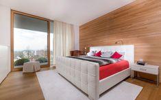 Architektenvilla mit atemberaubendem Panoramablick auf den Bodensee Villa, Modern, Bed, Furniture, Home Decor, Sous Sol, Living Dining Rooms, Underground Garage, Gym Room