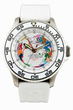 GMTS6 52mm Oceandiver Steel GMT White - 3H Italia £395 inc two straps and free UK delivery