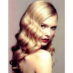 Hair Trend 40s Waves Fashion ❤ liked on Polyvore featuring accessories and hair accessories