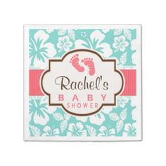 Baby Shower Paper Napkins   Baby Shower Disposable Napkins