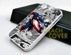 Captain America Comic iPhone Case and Samsung by BEACHCOVERR, $14.30