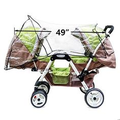 Weather Shield Double Stroller Rain Cover Twin Tandem Universal Size Baby Toddler Wind Shield Deal Popular Accessories - Compare and Shop The Best Stuff Best Baby Prams, Best Prams, Twin Strollers, Double Strollers, Newborn Twins, Twin Babies, Baby Shower Winter, Baby Winter