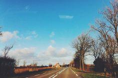 Fresh air #tree #road #summer #blue #sky
