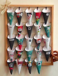 diy calendrier de l'avent avec des cônes #calendaravent
