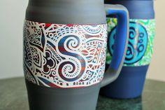 Hand painted 34oz Bubba Mug Keg - #paintedkeg #paintedcooler #bubbamug