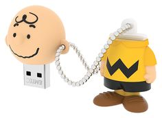 "Peanuts USB flash drive ""Charlie"" 3/4 open 8GB #Peanuts #FlashDrive #EMTEC"