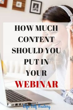 Webinars are a great way to build your brand. Do you know how much content should you put in your webinar. Click through to know more!