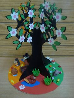 E-mail - Jenny van Losser - Rozendom - Outlook Kids Crafts, Fall Crafts For Toddlers, Tree Crafts, Toddler Crafts, Diy For Kids, Easy Crafts, Diy And Crafts, Arts And Crafts, Paper Crafts
