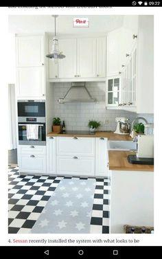 k che landhausstil gestalten authentisch einrichtung wei k cheninspirationen pinterest. Black Bedroom Furniture Sets. Home Design Ideas