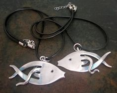 RecyclingSilber Schmuck verbogene Gabel Art von BenakSilverWear, €16.00 - silverware to fish jewelry